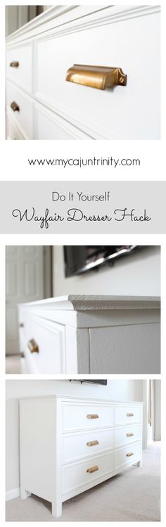 Step-by-step instructions on how to hack a Wayfair dresser. The total project cost right at $400 dollars and is one of my favorite furniture pieces to date.