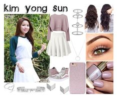 """Kim Yong Sun (Solar)"" by ohmy-fangirl ❤ liked on Polyvore featuring cutekawaii, Vans, Forever 21, Roberto Coin, FOSSIL, Messika, Jordan Askill and Gucci"