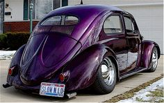 "A sweet 1957 VW Beetle ""GRIMACE"" owned by Jason Hinds."