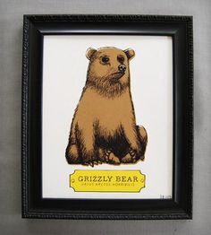 Grizzly Bear Print | Art Prints | Earmark Social Goods | Scoutmob Shoppe | Product Detail