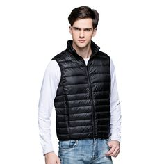 We love it and we know you also love it as well 2017New Men's Warm Ultralight Down Jackets Vests Men Solid Thin Winter Vest Male Lightweight Coats,Outdoors Brand Clothing,SA024 just only $16.77 with free shipping worldwide  #jacketscoatsformen Plese click on picture to see our special price for you
