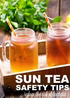 How to Make Sun Tea Safely – Confessions of an Overworked Mom – Mocktails 2020 Refreshing Drinks, Summer Drinks, Fun Drinks, Cold Drinks, Sun Tea Recipes, Drink Recipes, Fall Recipes, Nutella, Davids Tea
