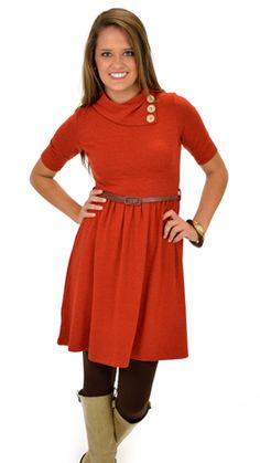 The Blue Door Boutique is your one-stop-shop for cute dresses, affordable tops, and boutique clothing. Blue Door Boutique, My Boutique, Boutique Clothing, Modest Dresses, Cute Dresses, Button Dress, Autumn Winter Fashion, Rust, Handle