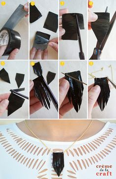 Duct Tape Necklaces