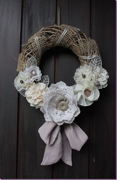 Love any repurposed twig wreath ideas