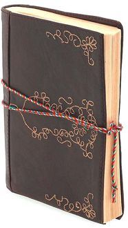 Leather Embroidered Brown Journal 5x7 by Barnes & Noble: Product Image perfect travel journal.