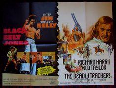 Black Belt Jones / The Deadly Trackers Posters Uk, Movie Posters, My Pat, Film Poster, Vintage Movies, Black Belt, Quad, Old Movies, Billboard