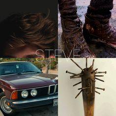 monster-hunting trio + aesthetics : steve harrington, stranger things