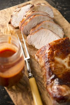 Paula Deen Barbecue Pork Roast (replace honey with alternative sweetener. Bbq Pork Roast, Pork Roast Recipes, Meat Recipes, Cooking Recipes, Pork Loin, Recipies, Grill Recipes, Free Recipes, R Cafe