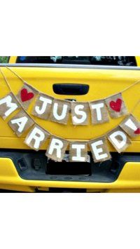 """""""just Married"""" Sign For Back Of Car $22"""