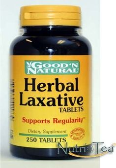 Herbal Laxative - 250 tabs,(Good'n Natural) by Good'n Natural. Save 29 Off!. $9.98. Herbal Laxative Tablets are an all-natural laxative designed for the relief of occassional constipation. Our formula brings together the holistic properties of Cascara Sagrada and Senna, two popular herbals used that help promote regularity. Herbal Laxative Tablets contain no harsh synthetics, so you can be assured of gentle, yet efficient, relief.