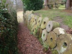 The wall of a House in Grindleford, Derbyshire, made of small mill stones. Beautiful Islands, Beautiful Places, British Country, Over The Hill, Peak District, English Countryside, Derbyshire, British History, British Isles