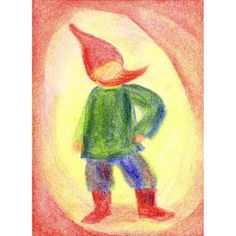 Coloring With Block Crayons, Gnome