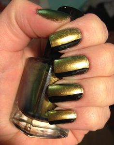 Green/gold and black