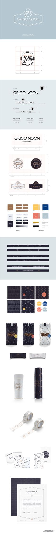 grigonoon dessert cafe branding system guidelines on Behance