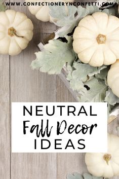 Neutral Fall Decor - Confectionery N Confetti Decorating Your Home, Diy Home Decor, Modern Fall Decor, Pumpkin Spice Candle, Thanksgiving Decorations, Holiday Decor, Black Pumpkin, Happy Fall Y'all, Confectionery