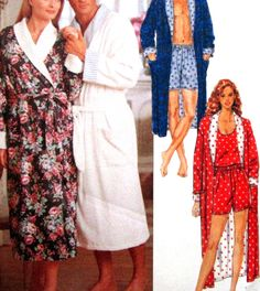 Sewing Pattern Mens Misses Robe Shorts Tank Top Size Large X Large Uncut Butterick 5189 Rated Easy