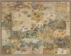 Six visits to the almost unknown plateau near Lillimilura police station ruins, Western Australia, (1984-1987) by John Walter Wolseley :: The Collection :: Art Gallery NSW