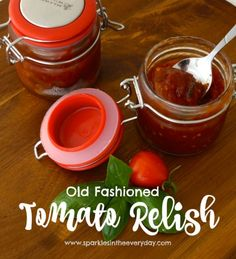 This Tomato Relish recipe is full of deep, caramel flavours - a true old fashioned flavoured tomato relish that is delicious, easy to make and gluten free!