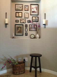 1000 ideas about niche decor on pinterest wall niches art niche and arched windows - Decorar con fotos las paredes ...
