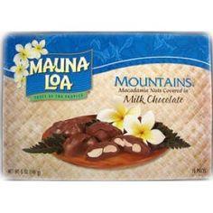 Mauna Loa Mountains, Macadamia Nuts Covered in Milk Chocolate
