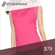 NEW MICHAEL KORS pink cotton sleeveless summer top NEW WITH TAGS. 100% cotton. Please visit my closet for more new with tags clothing, shoes, swimwear and sleepwear. Great bundling opportunities! MICHAEL Michael Kors Tops Muscle Tees