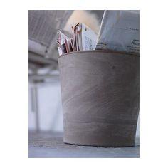 "MANDEL Plant pot - 9 ½ "" - IKEA    -to use as trash bin in bathroom"