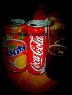 German combination orange fanta+coke