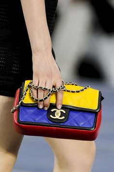 Colorful Chanel. #runway #pfw