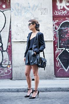 Black_Outfit-Studded_Jacket-Leather-Purificacion_Garcia_Shoes-Style-Street_Style-Collage_Vintage-7 by collagevintageblog, via Flickr