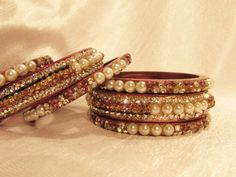 Rajasthani Pure Lakh Bangle Set with White Pearls and Diamonds (Offer Price: Rs 1810 , Offered Discount: 29%) ** BUY NOW **