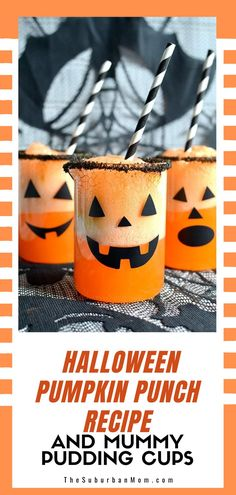 Enjoy these delicious Halloween treats! Serve this refreshing punch and pudding cups to your trick or treat gang! There will be no boos for sure! Check out the blog for more details on how to make this Halloween Pumpkin Punch Recipe And Mummy Pudding Cups! This fun Halloween party food idea is delicious yet so easy and quick to make! This quick recipe can surely elevate that rocking party!#drinkrecipe #halloweenpartyconcept Halloween Crafts For Kids, Halloween Food For Party, Holidays Halloween, Halloween Treats, Halloween Pumpkins, Party Activities, Halloween Activities, Pudding Cups, Punch Recipes
