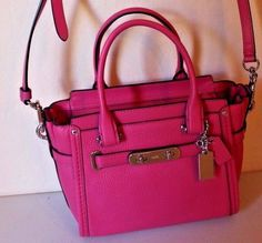 1ba1192135e3 Coach Dahlia Mini Swagger 21 Carryall in Pebble Leather Satchel for sale  online