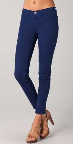 J Brand 811 Ankle Skinny Jeans, got these in color nightfall, color model is wearing.  Got them in other colors, too, and the fit is awesome