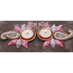 Silver Paisley t- lite Diya - Online Shopping for Diyas and Lights by Services Junction - Online Shopping for Diyas and Lights by Services Junction