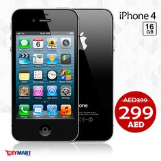 AED 299 only!  iPhone 4 16GB  ☎ +971 4 3589564 / WhatsApp: +971 507304400 https://esymart.com/apple-iphone-4-16gb.html