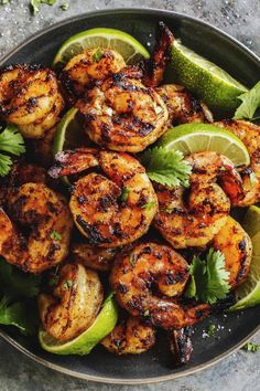 Margarita Grilled Shrimp Skewers are loaded with flavor & charred to perfection. An easy grilled shrimp recipe that'll be the star of your summer grilling! Grilled Shrimp Seasoning, Easy Grilled Shrimp Recipes, Marinated Grilled Shrimp, Grilled Seafood, Seafood Recipes, Mexican Food Recipes, Grilling Shrimp, Mexican Dishes, Bbq Shrimp Marinade