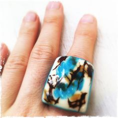 Natural Tagua Nut Ring   by Artesano Jewels