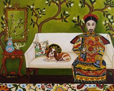 """""""The Emperor's Room"""" by Catherine Nolin. Acrylics on canvas, 2011."""