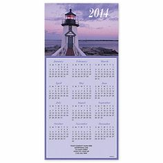 Order Lighthouse Z-fold Calendar | Beach Christmas Cards | Deluxe.com