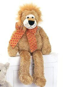 """Lean Beans Roary Long Legged Lion 15"""" by Bearington. Available at OurPamperedHome.com"""