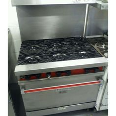 entry from njrestaurantequipment: #recyclelove #1800recycling. #preowned#refurbished #reconditioned #recycled Vulcan 6 burner stove
