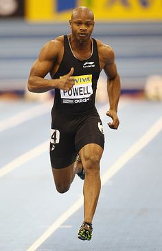 Asafa Powell thinks he has pinpointed why he has so often failed to produce on the big occasion and believes that if he is at his best he will win the 100 metres at the London Olympics. Athletic Events, Athletic Men, Asafa Powell, Jamaican People, Olympic Track And Field, Running Pose, Sports Celebrities, Action Poses, Sports Stars