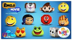 2017 THE EMOJI MOVIE McDONALD'S HAPPY MEAL KIDS TOYS PREVIEW   fastfood TOY collection