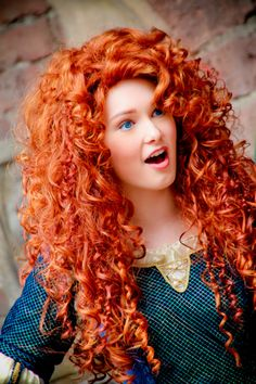 SOO cant wait for Riah to meet Merida at Magic Kingdom in the Fall on our trip!!  Brave is gonna be an awesome movie!! She's so pretty & <3 her hair!