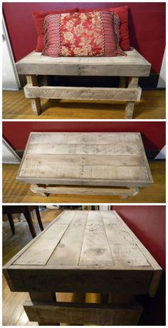 Decorative Indoor Bench #Bench, #CoffeeTable, #Pallets, #Recycled