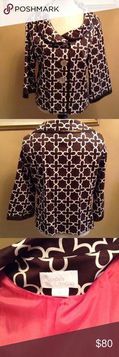 Debra DeRoo , blazer Blazer , leather trimmed debra DeRoo Jackets & Coats Blazers