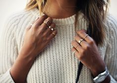 knit and rings.