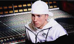 Eminem in the studio