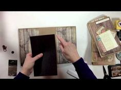 ▶ Vertical Paper Bag Mini Album Series Part 5 - Decorating the Cover - YouTube